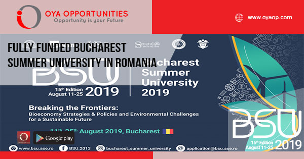 Fully Funded Bucharest Summer University in Romania