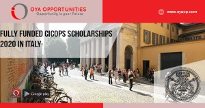 Fully Funded CICOPS Scholarships 2020 in Italy