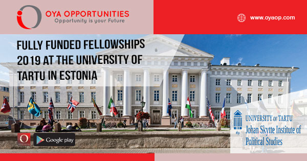 Fully Funded Fellowships 2019 at The University of Tartu in Estonia