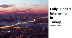 Fully Funded Internship in Turkey