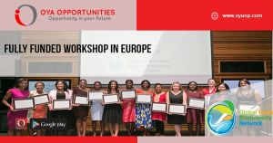 Fully Funded Workshop in Europe