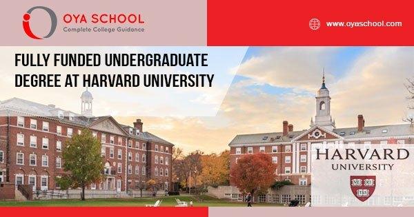 Fully Funded Undergraduate Degree at Harvard University
