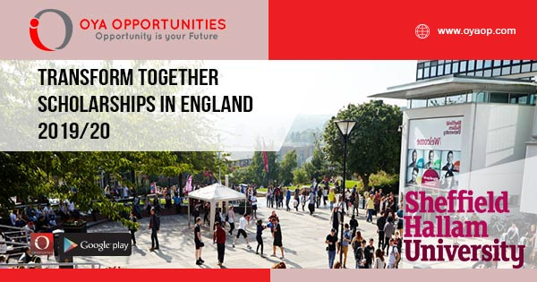 Transform Together Scholarships in England 2019/20
