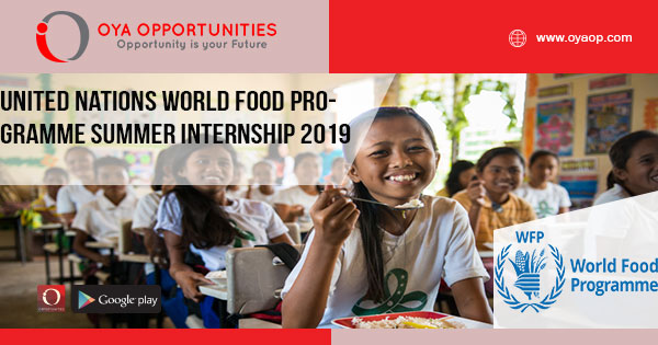 United Nations World Food Programme Summer Internship 2019