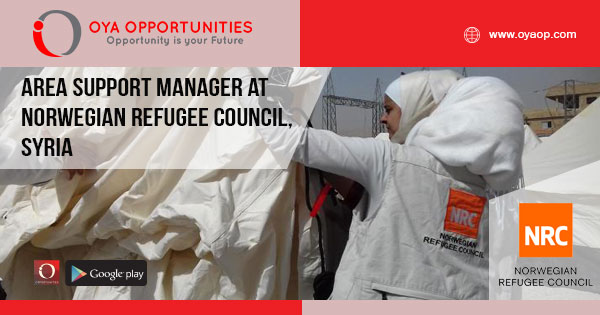 Area Support Manager at Norwegian Refugee Council - OYA