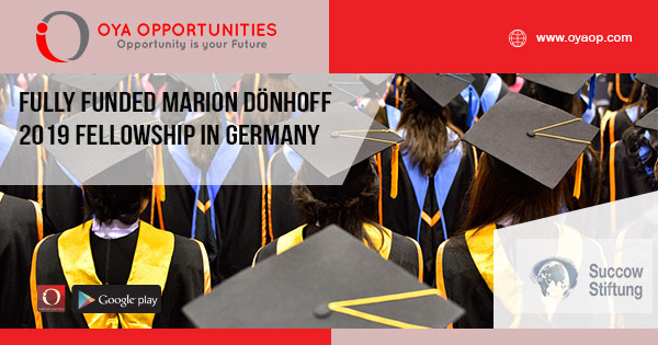 Fully Funded Marion Dönhoff Fellowship in Germany