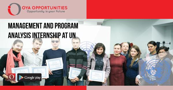 Management and Program Analysis Internship at UN