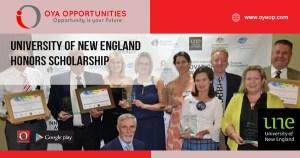 University of New England Honors Scholarship