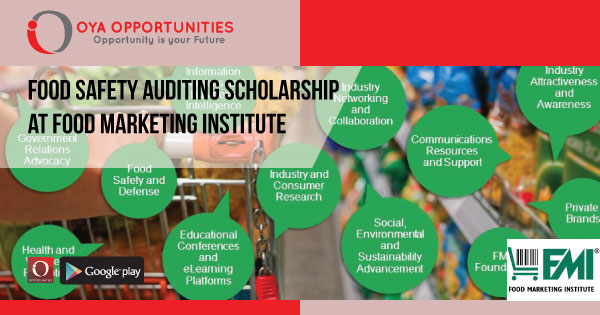 Food Safety Auditing Scholarship at Food Marketing Institute