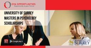 University of Surrey Masters in Psychology Scholarships