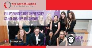 Fully Funded BPP University Scholarships in London