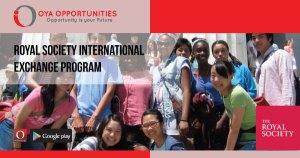Royal Society International Exchange Program