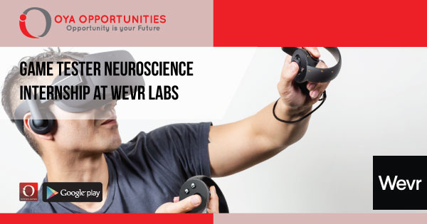 Game Tester Neuroscience Internship at Wevr Labs