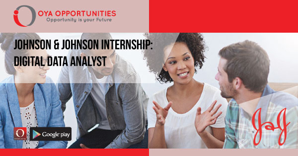 Johnson & Johnson Internship: Digital Data Analyst