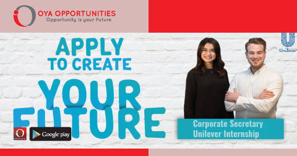 To become a Corporate Secretary at Unilever you must at least be a university student