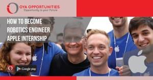 How To Become Robotics Engineer | Apple Internship