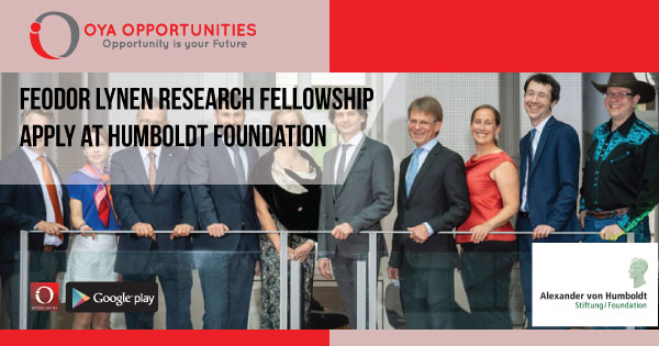 Feodor Lynen Research Fellowship | Apply at Humboldt Foundation