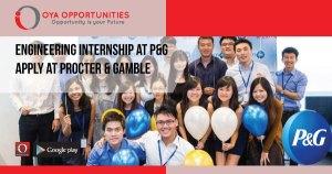 Engineering Internship at P&G   Apply at Procter & Gamble