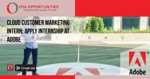 Cloud Customer Marketing Intern | Apply Internship at Adobe