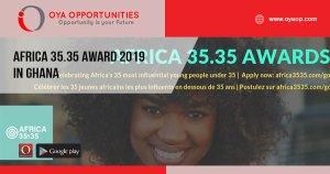 Africa 35.35 Award 2019 in Ghana