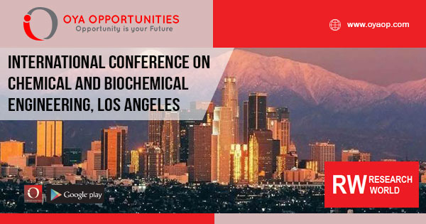 International Conference on Chemical and Biochemical Engineering 2019, Los Angeles