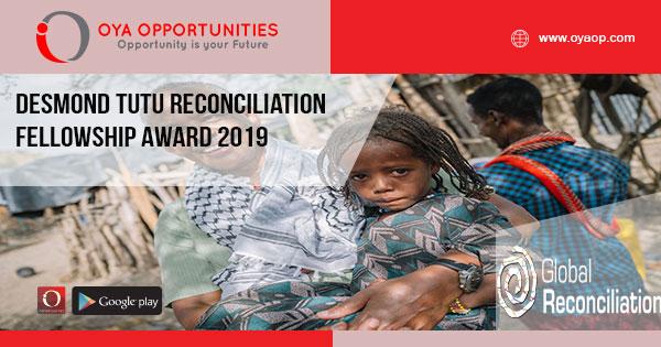 Desmond Tutu Reconciliation Fellowship Award 2019