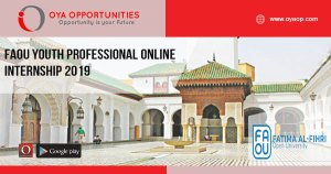 FAOU Youth Professional Online Internship 2019