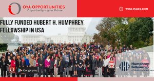 Fully Funded Hubert H. Humphrey Fellowship in USA