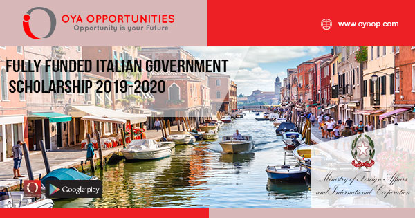 Fully Funded Italian Government Scholarship 2019-2020