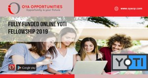 Fully Funded Online Yoti Fellowship 2019