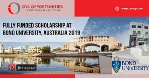 Fully Funded Scholarship at Bond University, Australia 2019