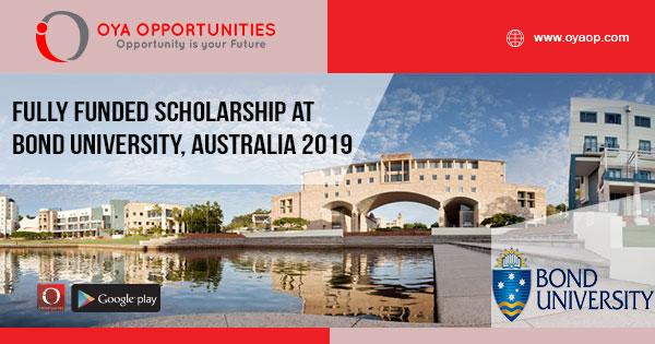 Fully Funded Scholarship at Bond University, Australia 2019