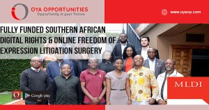 Fully Funded Southern African Digital Rights & Online Freedom of Expression Litigation Surgery
