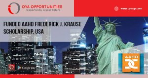 Funded AAHD Frederick J. Krause Scholarship, USA