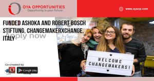 Funded Ashoka and Robert Bosch Stiftung, ChangemakerXchange, Italy