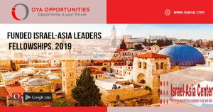 Funded Israel-Asia Leaders Fellowships, 2019