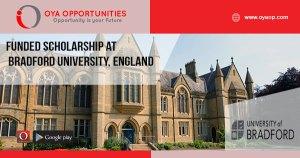 Funded Scholarship at Bradford University, England
