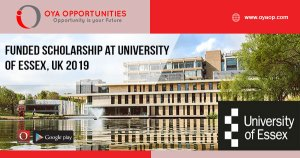 Funded Scholarship at University of Essex, UK 2019
