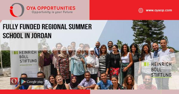 Fully Funded Regional Summer School in Jordan