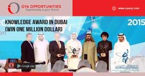 Knowledge Award in Dubai (Win One Million Dollar)