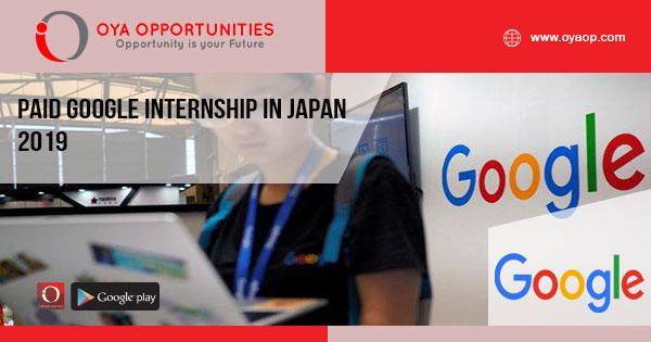 Paid Google Internship in Japan 2019