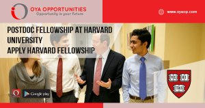 Postdoc fellowship at Harvard University | Apply Harvard Fellowship