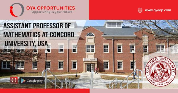Jobs at Concord University (Professor of Mathematics)