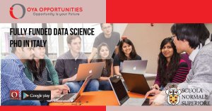 Fully Funded Data Science PhD in Italy