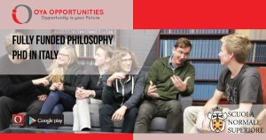 Fully Funded Philosophy PhD in Italy