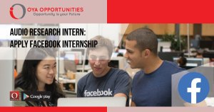 Audio Research Intern | Apply Facebook Internship