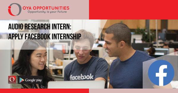 Audio Research Intern | Apply Facebook Internship