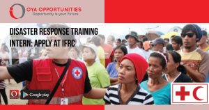 Disaster Response Training Intern | Apply at IFRC