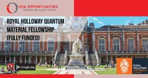 Royal Holloway Quantum Material Fellowship (Fully Funded)