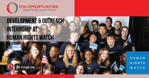 Development & Outreach Internship at Human Rights Watch
